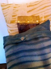 Naturally dyed recycled shibori cushions