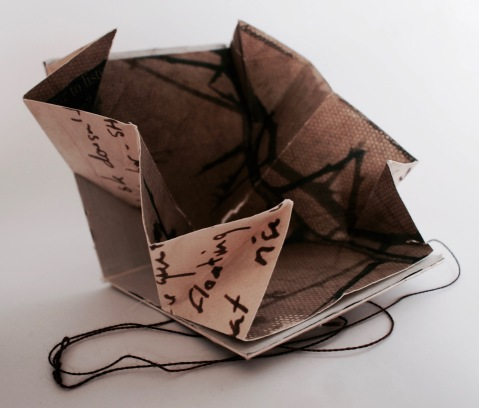 Printed folded artist book