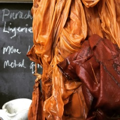 madder and turmeric dyed cotton and silk