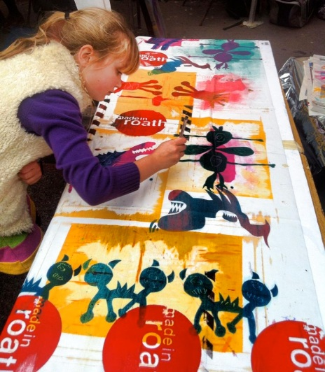 Kids screen printing