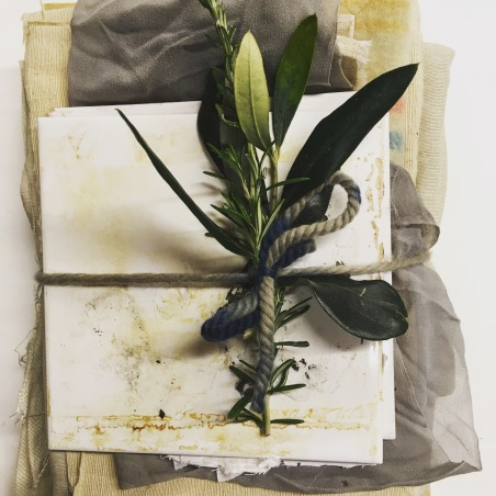 natural plant dye swatches