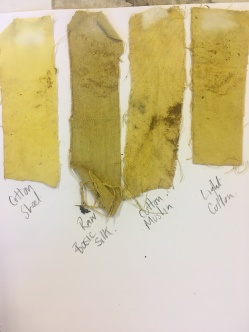 agrimony and turmeric swatches